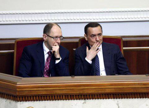 Арсений Яценюк и Николай Мартыненко. Фото nbnews.com.ua