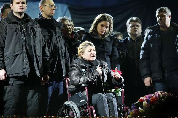 Тимошенко со старта перешла к театральным представлениям. Фото УП