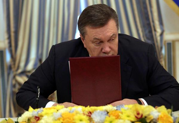 Виктор Янукович накануне бегства. Фото ru.tsn.ua