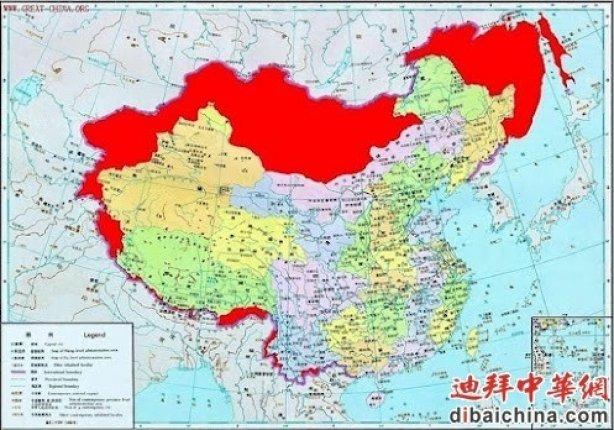 Красным помечены территории, которых Китай лишился после 1949 года epochtimes.ru
