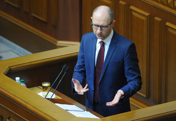Арсений Яценюк в парламенте. Фото с эккаунта политика в Фейсбуке