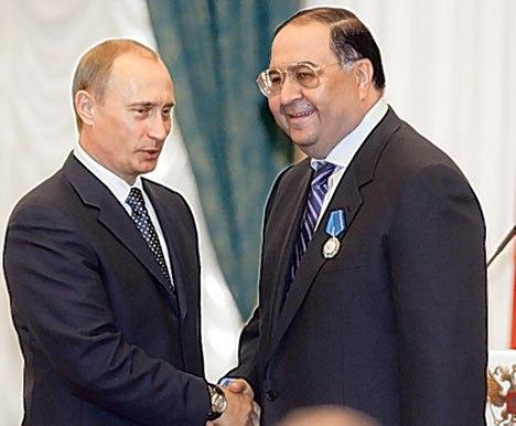 Путин и самый богатый человек России Алишер Усманов