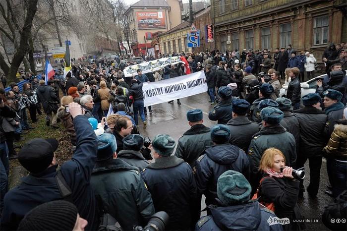 «Марш регионов» в Нижнем Новгороде. © Антон Тушин/Ridus.ru