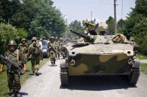 Russian troops in Zugdidi region of Georgia