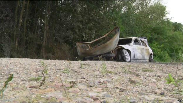 Автомобиль похитителей был найден сожженным вскоре после инцидента