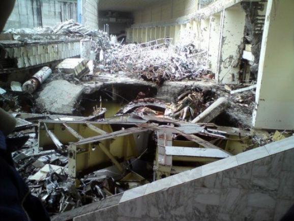 Помещение после катастрофы / Фото:  ru.wikipedia.org