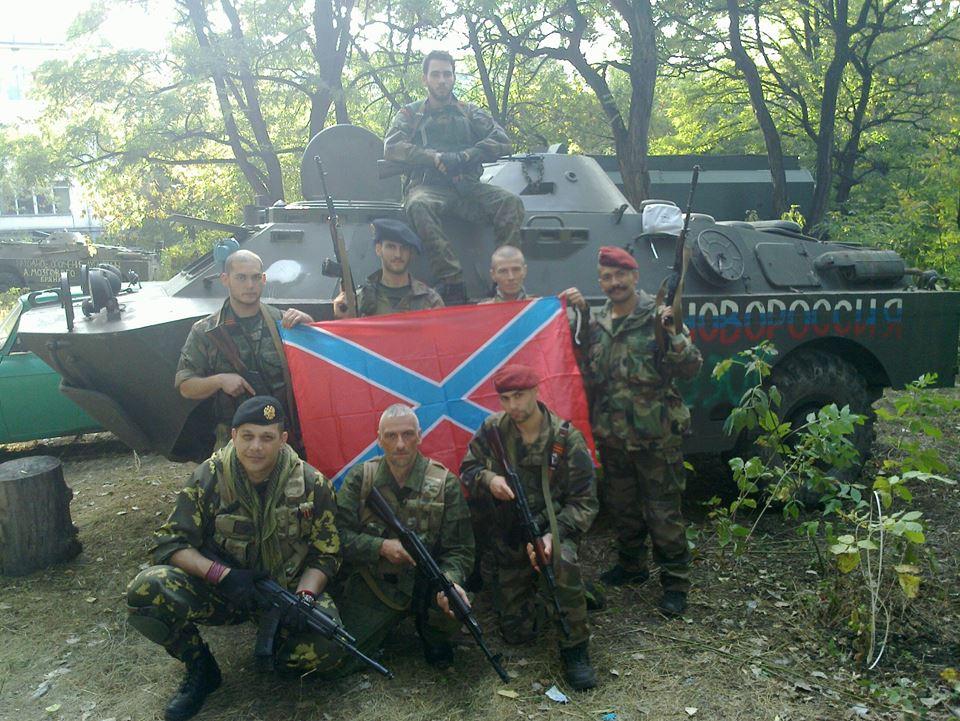 Отряд террористов-иностранцев в Донецкой области
