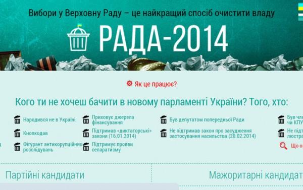 """Украинцам предложили """"отфильтровать"""" кандидатов в будущую Раду"""