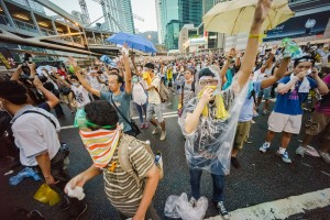 Революция зонтов в Китае Фото: supercoolpics.com