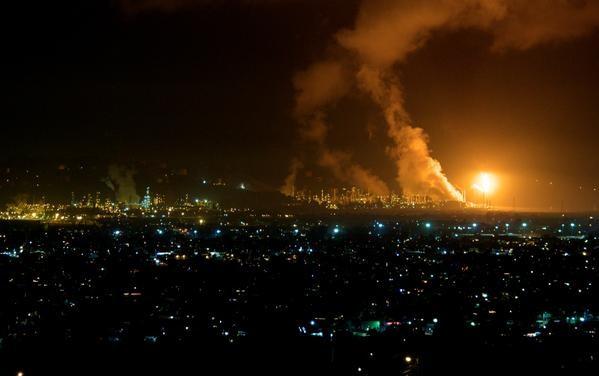 Возгорание произошло из-за разгерметизации оборудования. Фото twitter / J.Miller