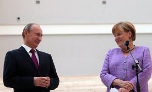Владимир Путин, Ангела Меркель (фото - EPA)