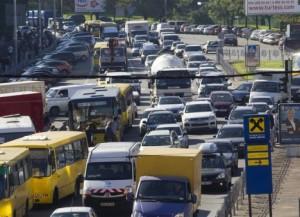В текущем году Киев лишь однажды стоял в многокилометровой пробке