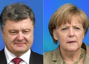Порошенко призвал Меркель увеличить численность наблюдателей миссии ОБСЕ