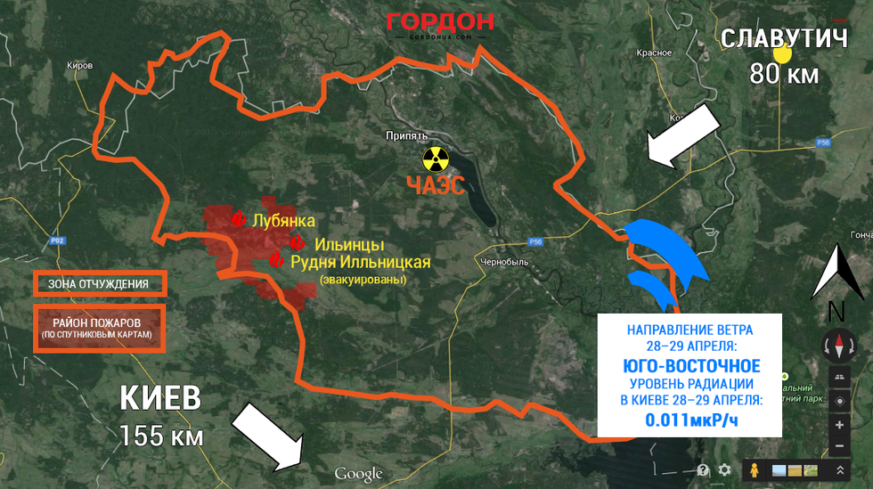 Где находиться чернобыль на карте украины