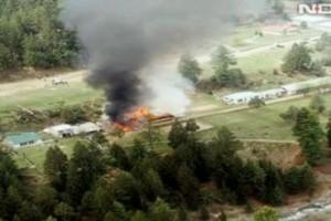 Вертолет Ми-17 упал на школу и разорелся Скриншот